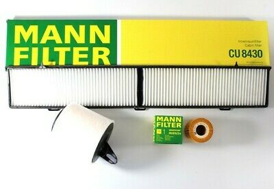 Filter Kit Cabin Air C1361 Oil HU815/2x Cabin CUK8430 BMW E87 120i E90 320i