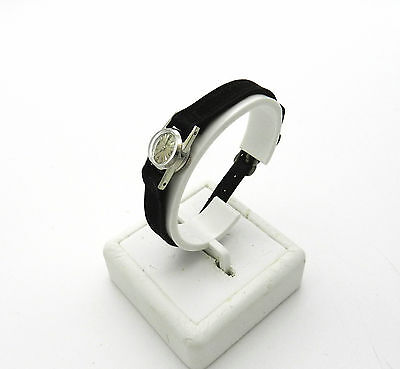 Jaeger Le Coultre 14K White Gold Back Wind Ladies Wrist Watch