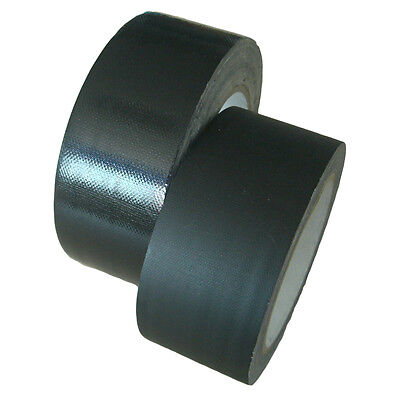 3 Rolls 1 in x 27 yds. Cloth Gaffer Duck Duct Gaffer's Tape Adhesive Tape Black