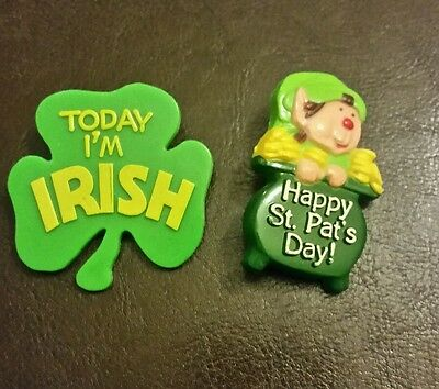 2 Vintage  St.Patrick's Day Pins/Brooches American Greetings Company