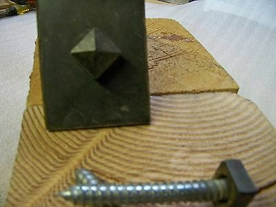 """Custom Made 1"""" Square Head Clavos StyleWith 1/2"""" x 3 """" Lag"""