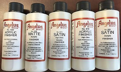 Angelus Finisher 118.2ml  - Satin, Gloss, Matte Acrylic Finish for Leather Paint
