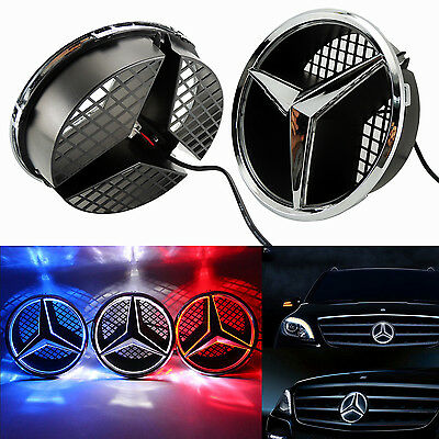 Front Grille Star Emblem Logo For Mercedes Benz 2006-2013 Illuminated LED Light