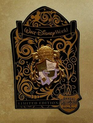 Disney World Annual Passholder Figment Epcot Crest Shield Pin 2016 NEW LE