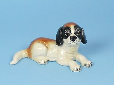 Vintage GOEBEL Porcelain SAINT BERNARD PUPPY Dog Figurine W GERMANY