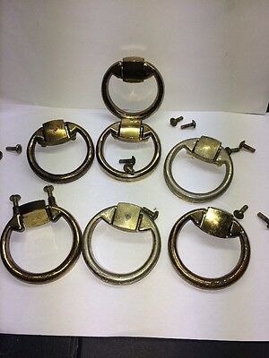 reclaimed retro/vintage  Schreiber furniture handles ring pulls x 7