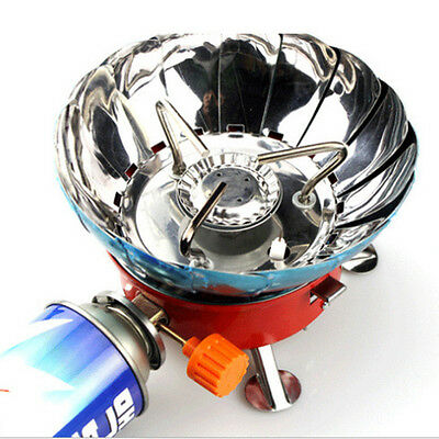 Portable Lotus Mini Gas Stove for Camping Outdoor Picnic Cooking Windproof