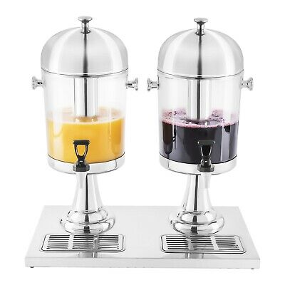 Drink Dispenser Breakfast Buffet Cold Beverage Drink Fountain 2X7L Modern Design