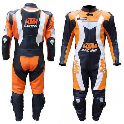 Ktm Custom Made Motorbike Motorcycle Racing Leather Suit Leather 1&2 Piece Suit