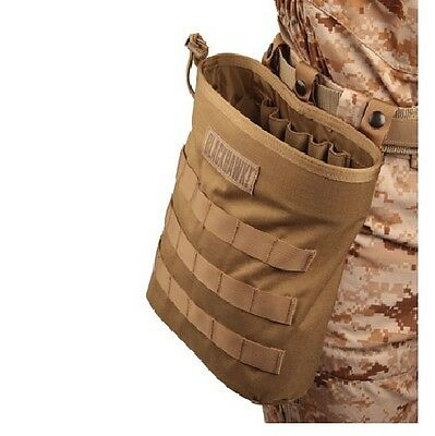 Blackhawk 37CL117CT Coyote Tan Roll-up MOLLE Dump Pouch w/ Elastic Loops