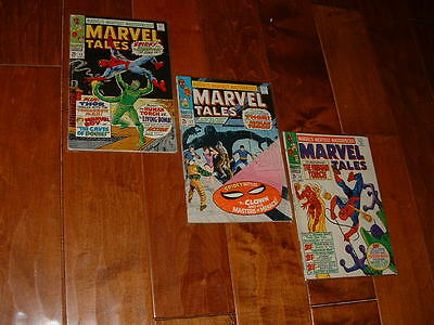 1968 Marvel Tales 15 16 17 Reprints Spider-Man 20 21 22 VG Free Shipping