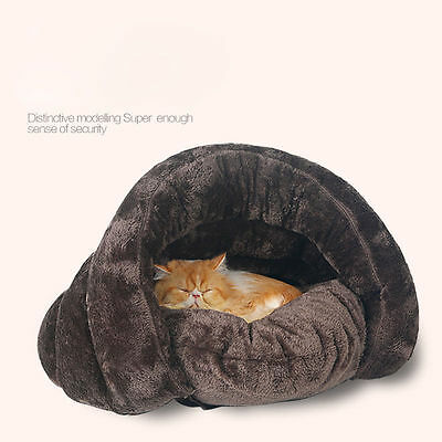 Dog Cat Warm Bed Pet Nest House sleeping Bag Cozy Winter Cave Without Cushions