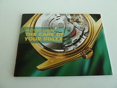 Rolex The Care - Rolex Booklet - englisch -