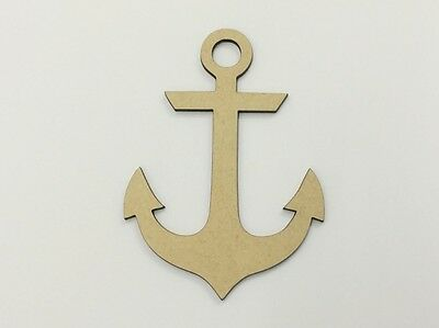 Five (5) x 10cm MDF Wood Anchor Craft 3mm MDF Ready To Prime and Paint