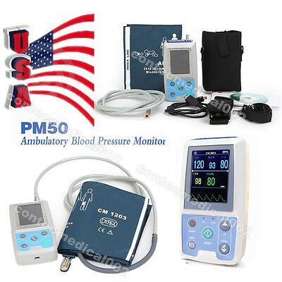 3 Parameters Vital Signs ICU Patient Monitor NIBP SPO2 PR+Software, US Seller