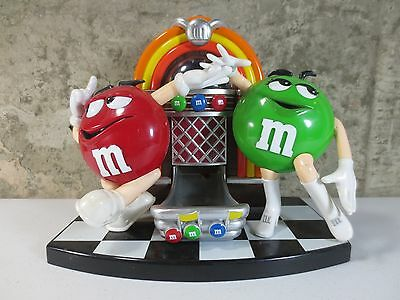 Vintage Collectible M&M CANDY DISPENSER JUKEBOX Dancing Characters