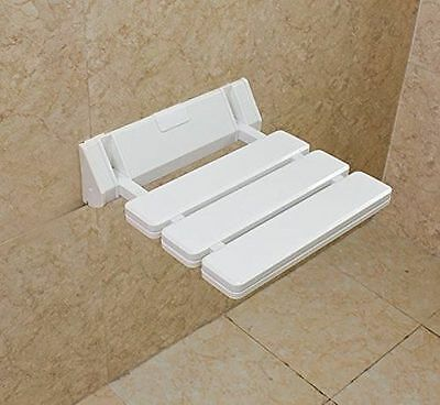 NEW FOLDING BATH Seat Shower Chair Wall Mount Solid Plastic ...