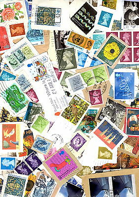 GB 60g COMMEMORATIVES,DEFINITIVE'S STAMPS KILOWARE ON  PAPER QEII USED LOT 3