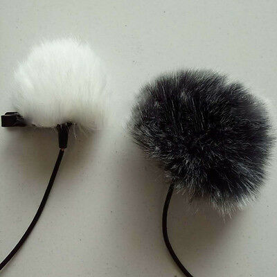 For Outdoor Recording Black Fur Windscreen Wind Muff Lapel Lavalier Microphone
