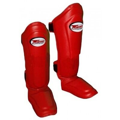 TWINS SPECIALS SHIN GUARDS - NEW STYLE / DOUBLE PADDED - SGMC-10s - RED