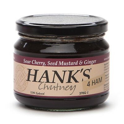 NEW Hank's Cherry Seeded Mustard & Ginger Jam for Ham 370g