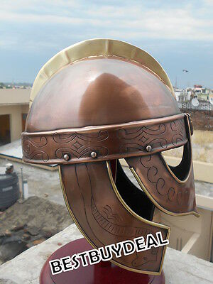 Antique Valsgrade Viking Helmet Knight Copper Finish Larp Militaria Roleplay