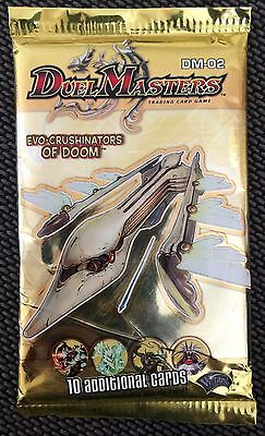 Duel Masters DM-02 Evo Crushinators Of Doom Booster Pack (10 Cards) Free Post