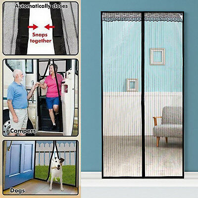 Magnetic Curtain Door Mesh Mosquito Fly Bug Insect Net Fastening Magic Screen UK