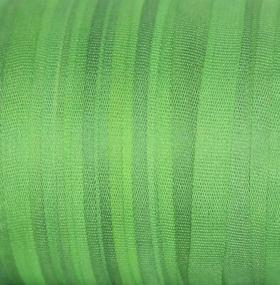 Silk Ribbon for Embroidery 4mm - 3 meters Nile Green