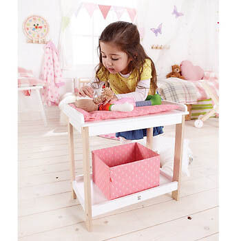 Hape-Wooden Toys for Kids-Baby Changing Table