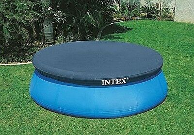 8ft Round Swimming Paddling Pool Cover Easy Fast Set Rope Ties