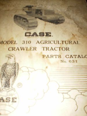 Case Model 310 Agricultural Crawler Tractor Parts Catalog 1958