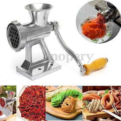 Heavy Duty Hand Operated Meat Mincer Grinder Kitchen Beef Metal Sausage Maker