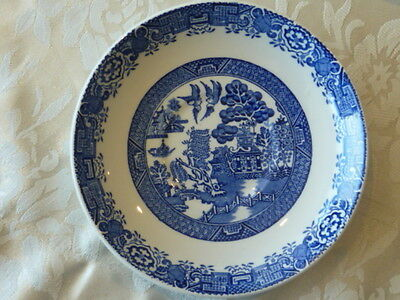 Wood & Sons England Enoch Ralph Willow Pattern Saucer 15.5 Cm Woods Ware