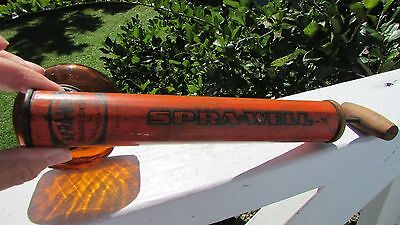 Antique Bug Sprayer Beautiful Amber Glass Wooden Handle Montclair Nj