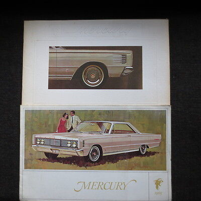 1965 Mercury two (2) brochures. One is Canadian market
