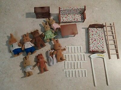 Bandai Maple Town Story Lot! Furniture, Mail Truck, Figures.... Calico Critters