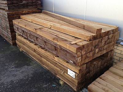 "Treated Fence Posts 2',3',4' (3""x3"") - Next Day Delivery!"