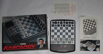 Saitek Sensor Chess Turbo Kasparov, Electronic Game,  Boxed