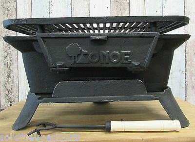 Cast Iron Hibachi Grill Portable Heater Grill Bbq Outdoor Cooking