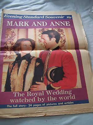 Royalwedding souvenir Evening Standard Princess Anne & Capt Mark Phillips