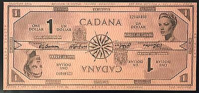 1961 CADANA One Dollar, Reversible Paper Money Specimen, Rene Laflamme! rd org