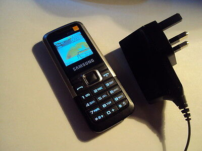 Original  Basic Samsung E112  Simple Mobile Phone On Orange  Phone+Charger