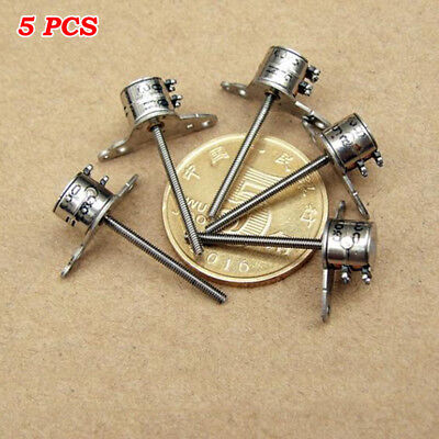 5PCS Mini 6mm 2-phase 4-wire Micro Stepper Motor 17mm Long Screw Rod DIY Camera