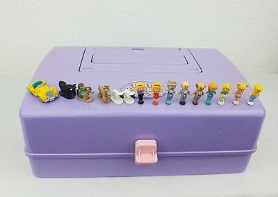Polly Pocket Jewel Case Play Set With Figures almos Complete 1989 Bluebird toys
