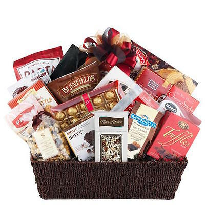 Father's Day Graduation Gift Basket-Truffles Nougat Cheese Sticks Pralines Candy