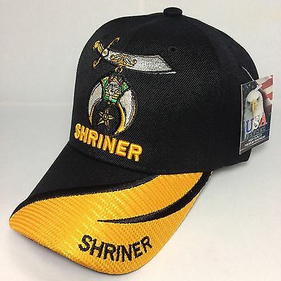 Shriner Cap, Mason Cap, Black /gold Color