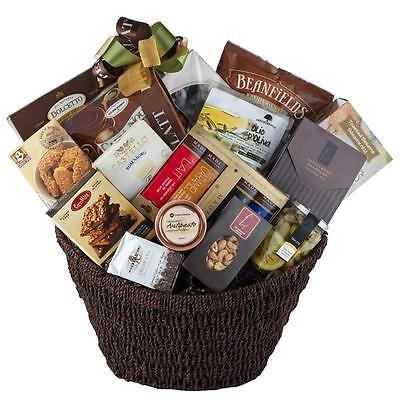 Christmas Holiday Gourmet Gift Basket With Olives Cookies Chocolate Brie Nuts