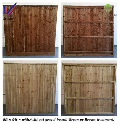 Solid Heavy Duty, Closed Board Fence Panels, Fully Framed, Pressure Treated