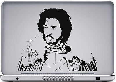 Game Of Thrones Jon Snow Transfer Sticker Decal  Laptop Wall